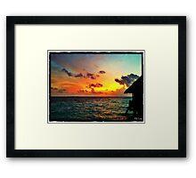 Honeymoon Paradise Framed Print