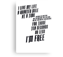 The Fast And The Furious - I Live My life Metal Print