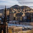 The old town from Princes street by Beautiful Edinburgh