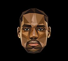 LeBron James KING Abstract Face Design by RhinoEdits