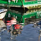 Reflections At Lyme Regis Harbour by Susie Peek