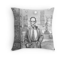 HP Lovecraft - Explorer of Strange Worlds Throw Pillow