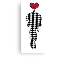 Checkered Heart Guts Canvas Print