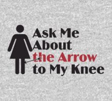 Skyrim - Ask Me About the Arrow (female) Kids Clothes