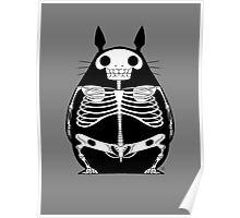 Skeleton Totoro Poster