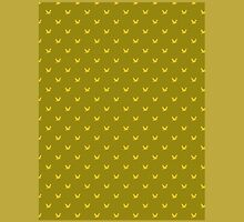 Bird pattern on golden background by JoAnnFineArt