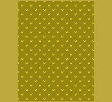 Bird pattern on golden background by JoAnnFineArt