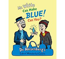 Mr. White Can Make Blue! Photographic Print