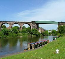 Salterford Rail Bridge & Viaduct.......River Weaver......! by Roy  Massicks