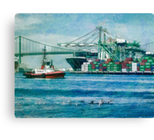 Sunny afternoon in the Port of Los Angeles Canvas Print