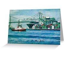 Sunny afternoon in the Port of Los Angeles Greeting Card