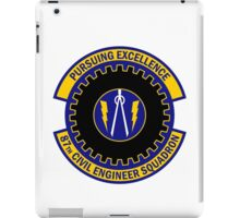87th Civil Engineer Squadron - Pursuing Excellence iPad Case/Skin