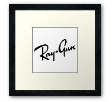 Ray Gun BW Framed Print