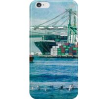 Sunny afternoon in the Port of Los Angeles iPhone Case/Skin
