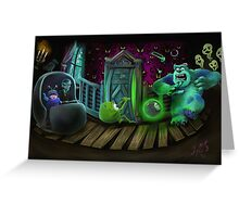 Haunted Monsters Inc Greeting Card