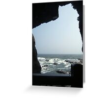 Sea View From A Cave Greeting Card