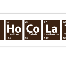 C.Ho.Co.La.Te (Chocolate spelled with Periodic Table) Sticker