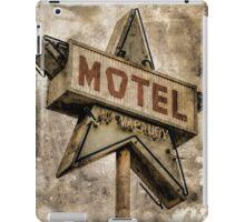 Vintage Grunge Star Motel Sign iPad Case/Skin
