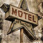 Vintage Grunge Star Motel Sign by Honey Malek
