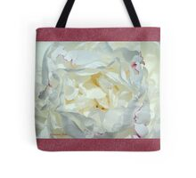 Love ~ This White Peony Tote Bag