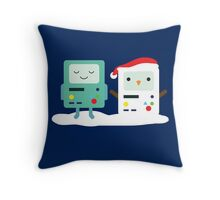 Building SnowMO (Red) Throw Pillow