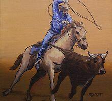 Calf Ropin' Cowboy by Michael Beckett