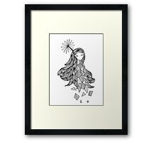 Sky Girl Framed Print