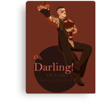 Darling (orange ver.) Canvas Print