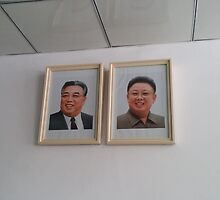 Portraits of the North Korean Leaders by lufraki