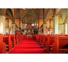 Cathedral of the Prairies - Internal View Photographic Print