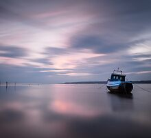 Loughor estuary boat Wales by leightoncollins