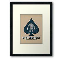 Ma.Ktoberfest Framed Print