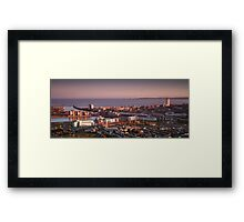 Swansea city south Wales Framed Print