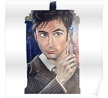 """""""Number 10"""" - Tardis shirt Poster"""
