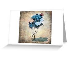 The Dancing Crane Greeting Card