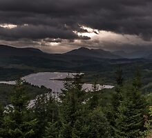 Storm clouds over Glen garry by Guy  Berresford