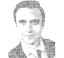 Raúl Esparza Typography Photographic Print