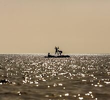 Kids and their canoe by chrisdot