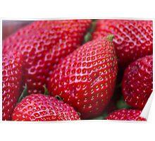 ripe strawberries Poster