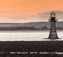 Whitford point lighthouse Wales by leightoncollins
