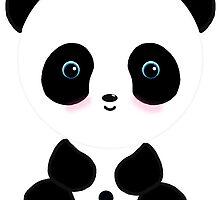 Blushing Panda Bear by BeachBumFamily