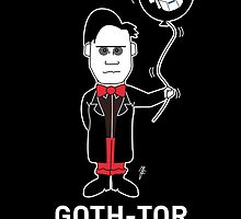 GOTH DR WHO - WHITE TEXT! by mjfouldes