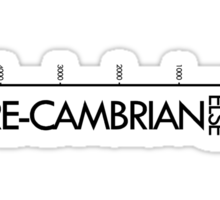 Pre-Cambrian vs. Everything Else Sticker