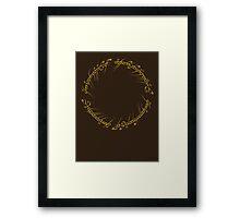 The One Ring Inscription Framed Print