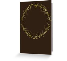 The One Ring Inscription Greeting Card