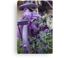 bicycle with lavender Canvas Print