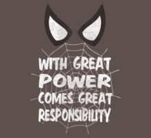 With great power... ( Spider-man ) Kids Clothes