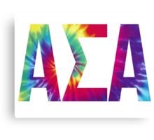 alpha sigma alpha tie dye Canvas Print