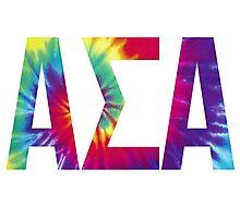 alpha sigma alpha tie dye Photographic Print