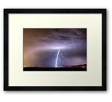 Lightning Strikes Following the Rain  Framed Print
